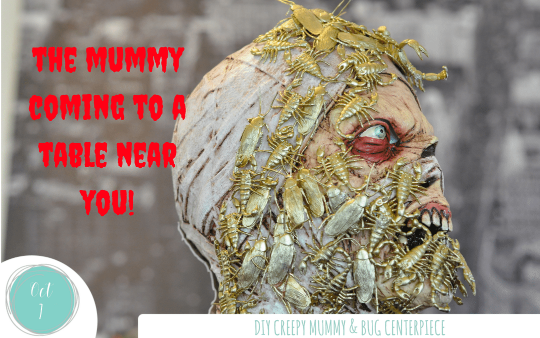 DIY Creepy Mummy Centerpiece