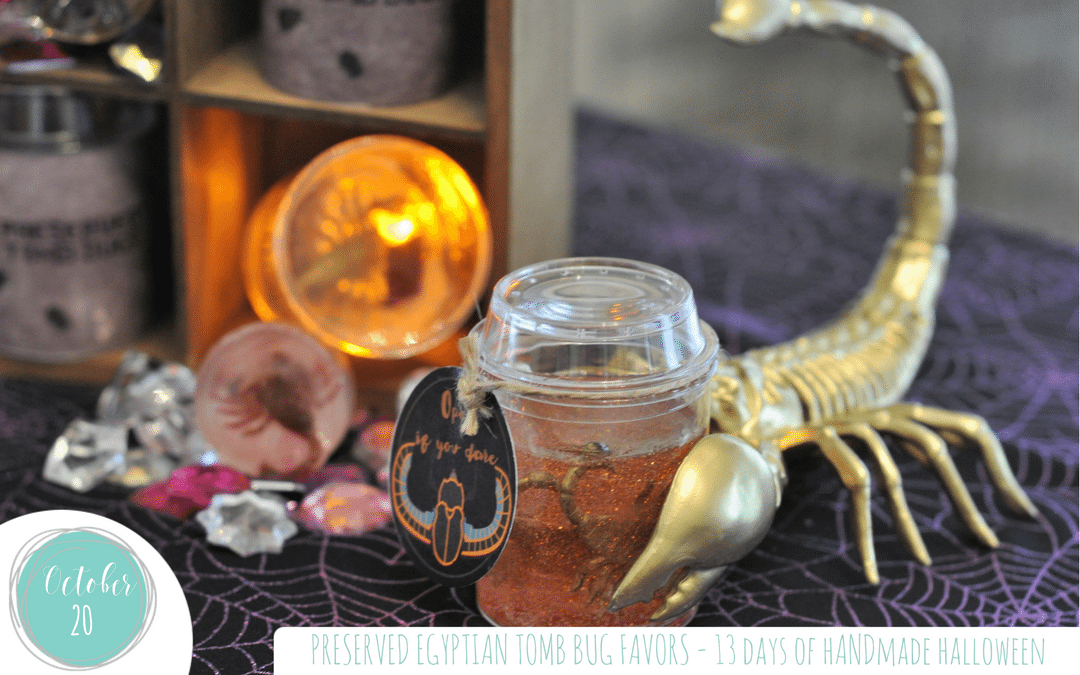 Preserved Tomb Bug Favors! – 13 Days of Handmade Halloween