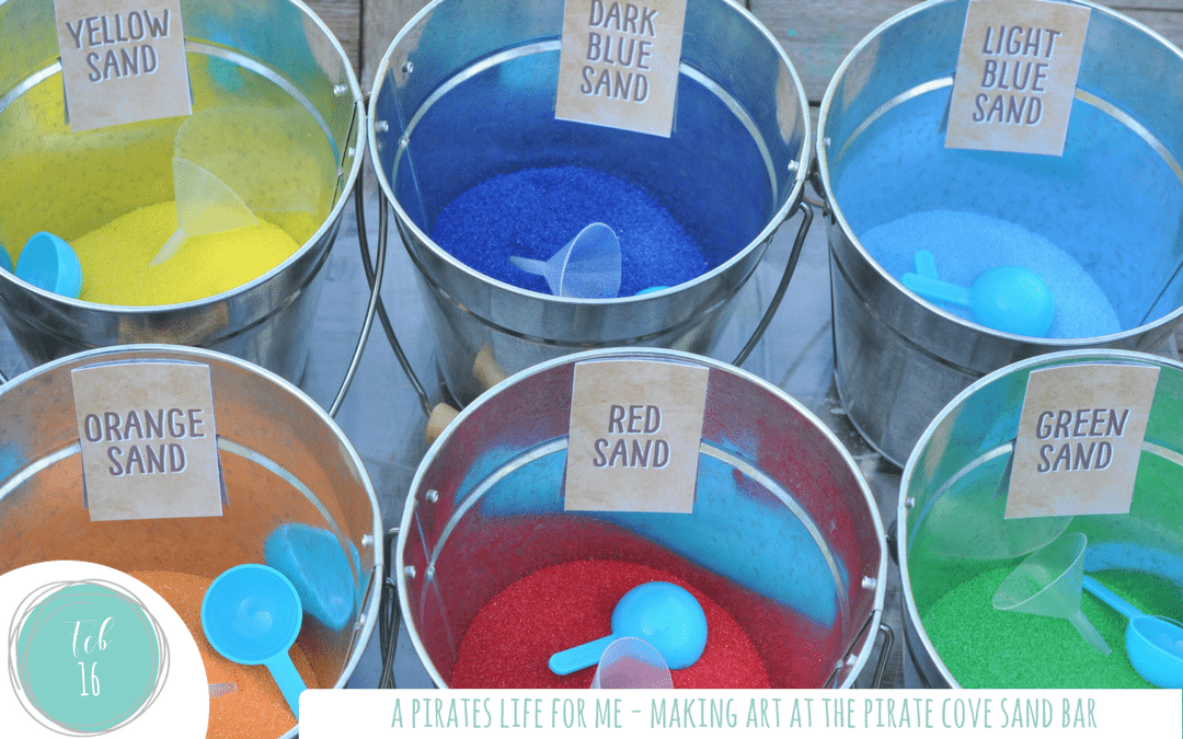 Pirate Party Crafts – Sand Art at the Sand Bar!