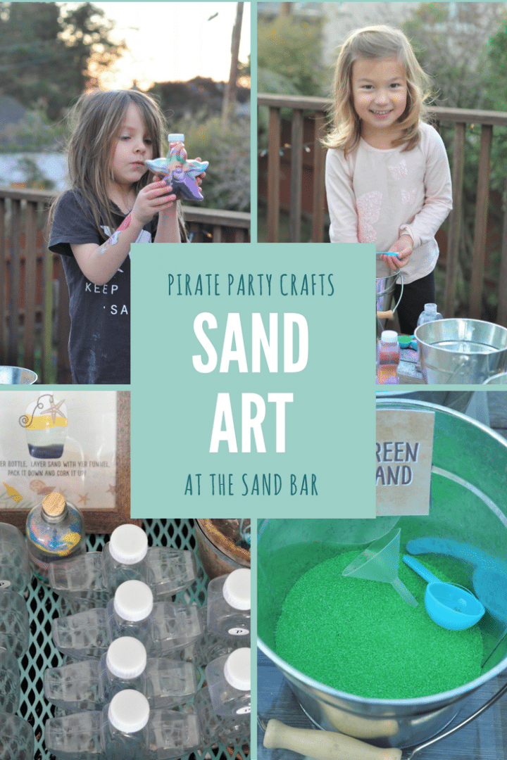 Pirate party crafts - sand art