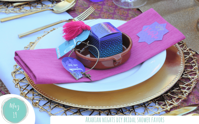 DIY Arabian Theme Bridal Shower Favors