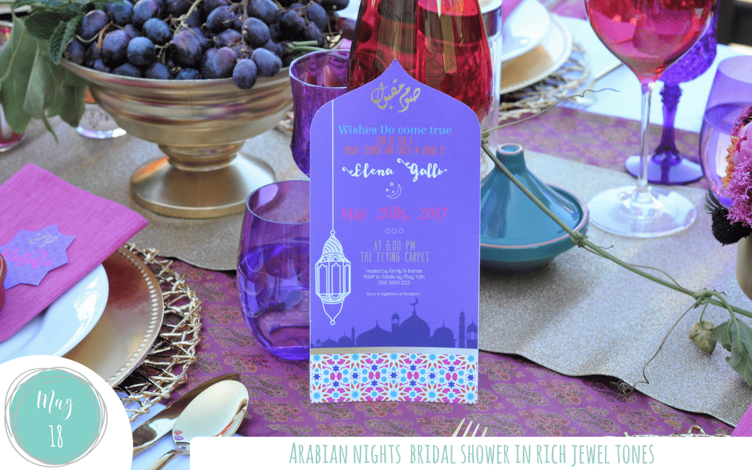 Jewel Tone Arabian Nights Bridal Shower