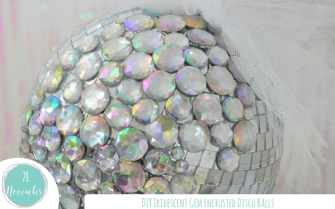 DIY Iridescent Disco Balls