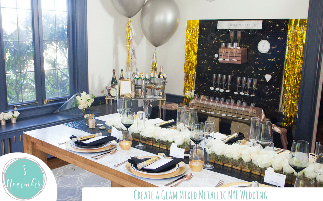 Create a Glam Mixed Metallic NYE Wedding