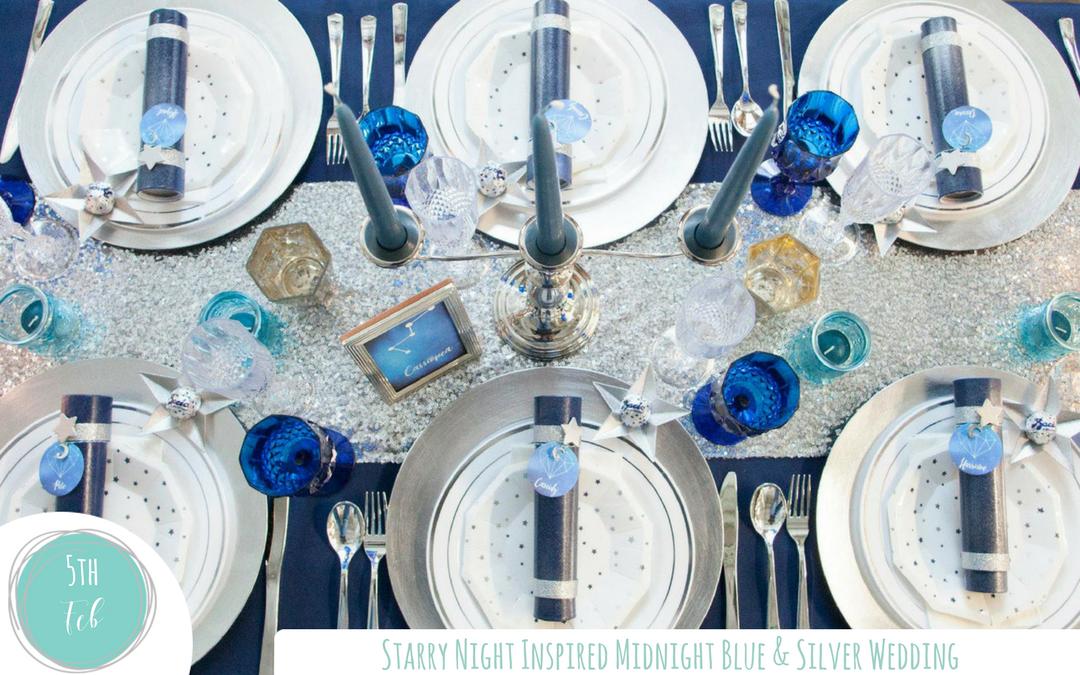 Starry Night Inspired Midnight Blue Wedding